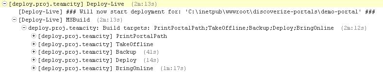 Schritte und Zeiten beim Deployment eines Portals | discoverize - die individuelle Web Portal Software