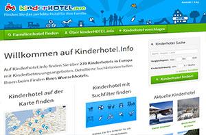 discoverize web portal software beispiel: kinderhotel.info